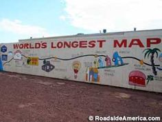 route 66 landmarks   ... Trading Post - Worlds Longest Map of Route 66, Meteor City, Arizona