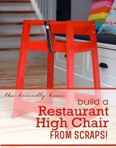 DIY restaurant-style high chair