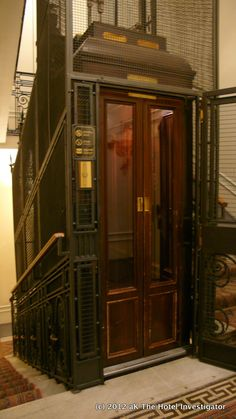 Just like the elevator at our bed and breakfast - equipped with a Ferrari motor!