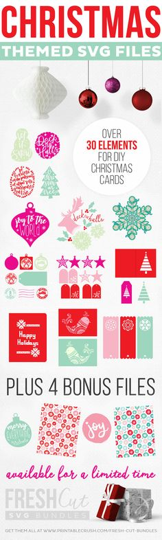 AWESOME Christmas Gift Tags and Cards Christmas SVG file bundle deal!