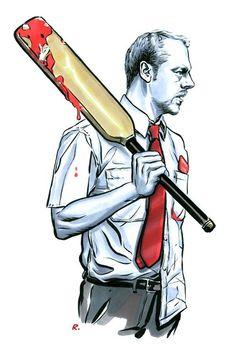 Shaun of the Dead fan art.