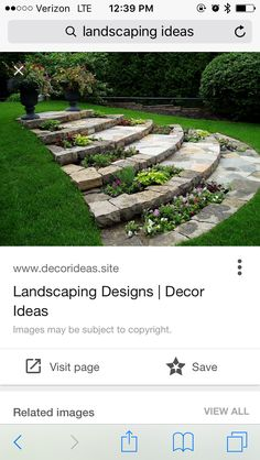 Rock Wall Landscape, Landscape Design, Saved Pages, Stepping Stones, Backyard, Outdoor Decor, Inspiration, Biblical Inspiration, Stair Risers