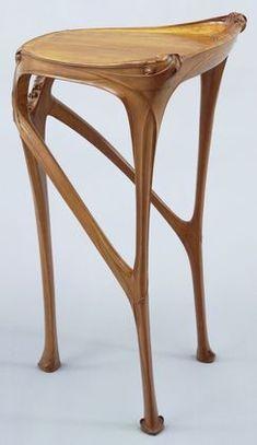 Art Nouveau Side Table, Hector Guimard (French, ca Pear wood. Vintage Furniture, Cool Furniture, Furniture Design, Plywood Furniture, Architecture Art Nouveau, Art And Architecture, Design Art Nouveau, Deco Design, Design Design