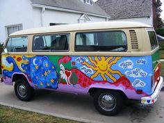 Pics For > Hippie Van Art