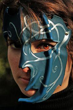 Pronta spedizione  MAGIA BLU  maschera in di ChimericalDragonfly, $65.00