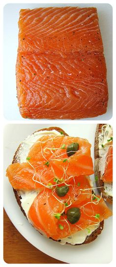 How to Cure Salmon - Lox Recipe So easy, and MUCH cheaper than buying smoked salmon. How to Cure Salmon - Lox Recipe So easy, and MUCH cheaper than buying smoked salmon. Cured Salmon Recipe, Smoked Salmon Recipes, Fish Recipes, Seafood Recipes, Cooking Recipes, Salmon Dishes, Fish Dishes, Seafood Dishes, Salmon Lox