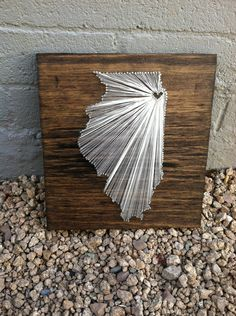 I Love My State (Chicago, Illinois) 12x 12. $40.00, via Etsy. Would love one of these for Texas! Would also be great for gifts.