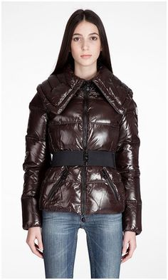Moncler Official Website - Moncler Aliso Down Belted Damen Jacken Kaffee Stil