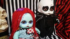 Goth Shopaholic: Creepy Little Goth Dollies by DrakenStein Art