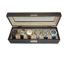 great gift for a certain man in my life that loves watches     6 Piece Solid Top Black Leatherette Men's Watch Box Display Case Collection Jewelry Box Storage Organizer TimelyBuys,http://www.amazon.com/dp/B004HLFL84/ref=cm_sw_r_pi_dp_q7JAtb1N048GYEMQ