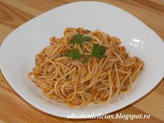 Absolut Delicios - Retete culinare: SPAGHETE CU TON Cooking Recipes, Pizza, Ethnic Recipes, Food Ideas, Chef Recipes, Recipes
