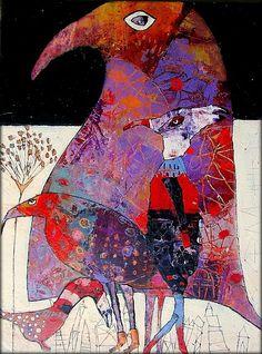 L'art de la FIBRITE / papier mâché,peinture en relief (ventes au profit de l'association Julien : www.assocjulien.canalblog.com)