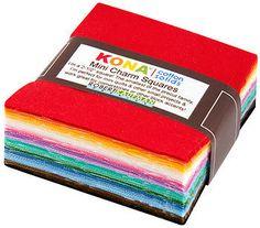 "30's Palette 84-Mini Charms Cotton Fabric 2 1/2"" Squares by Robert Kaufman"