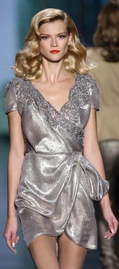 Christian Dior #FashionSerendipity #fashion Silver Shimmer Fashion