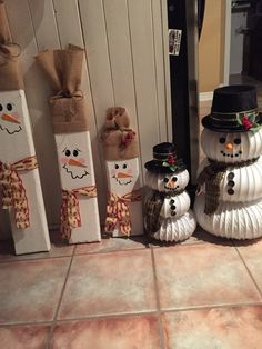 Dryer vent and 2x6 snowmen.