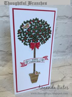 The Craft Spa - Stampin' Up! UK independent demonstrator : Thoughtful Branches Holly