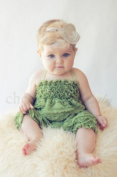 Ruffle Romper FERN  by Cheeky Chic Baby by cheekychicbaby on Etsy, $44.00