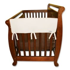 Trend Lab 2-pk. Solid Convertible Crib Side Rail Covers, Brown
