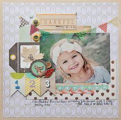 #papercraft #scrapbook #layout Megan Klauer at Crate Paper