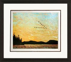 Round Lake - Numbered By Artist | Group Of Seven | Framed Art | Wall Decor | Art | Picture | Home Decor