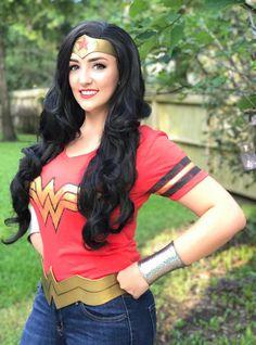 Wonder Woman Outfit, Wonder Woman Party, Dc Cosplay, Cosplay Costumes, Longest Movie, Womens Wigs, Big Hair, Long Hair Styles, Heroines