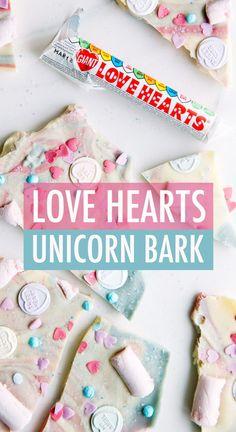 Love Hearts Chocolate Unicorn Bark