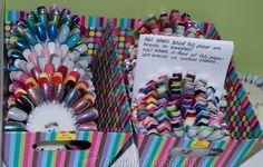 Keeping nail wheels organized :)