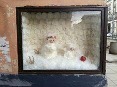 "MARSZAŁKOWSKA 41 by Mirella von Chrupek. This tiny ""exhibition"" changes quite often;)"