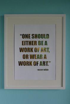 Oscar Wilde on Life