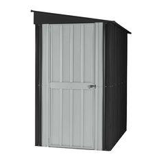 W x 5 ft. 7 in. D Metal Lean-To Tool Shed  sc 1 st  Pinterest & Goplus 4u0027 X 7u0027 Outdoor Storage Shed Garden Sliding Door O... https ...