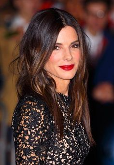 """""""The next big thing in hair color: Sandra Bullock's dark brown, espresso-colored hair. I think people are going to start going very dark aga..."""