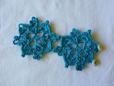 Spring Spring Spring Crochet Cuff Bracelet in Blue Teal Lace with Vintage Shell Buttons Ready to Ship with Fast free Shipping; for Easter, Mother's Day gift by LindenLeasCrochet