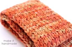 Make it Handmade shares a free keyhole scarf pattern sized to fit a child -- a simple knit.