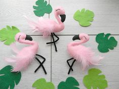 Flet flamingo ornament Flamingo Cake Topper Hanging flamingo