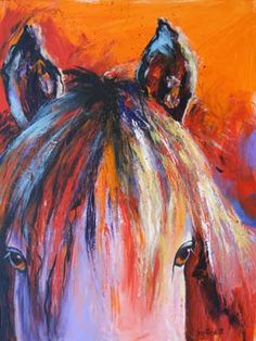 Whisper - acrylic horse painting - click for more info and to see larger image