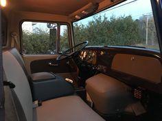 Flo's Loadstar build on 1996 international frame swap Little Truck, Truck Interior, International Harvester, Binder, Rat, Trucks, Interiors, Building, Trapper Keeper