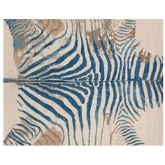 Pottery Barn Printed Zebra Rug found on Polyvore featuring polyvore, home, rugs, hand knotted area rugs, recycled rugs, pottery barn rug pad, faux zebra rug and zebra rug