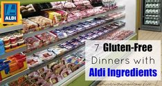 7 Gluten-Free Dinners Made from Ingredients Bought at Aldi I think you will love these 7 gluten-free dinners made with ingredients from ALDI! What Is Gluten Free, Gluten Free Meal Plan, Gluten Free Dinner, Gluten Free Cooking, Dairy Free Recipes, Gluten Free Aldi, Healthy Recipes, Foods That Contain Gluten, Foods With Gluten