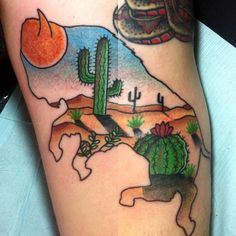 traditional cactus tattoo - Google Search