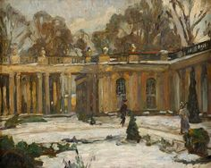 Antoine, Otto 1867 Koblenz - 1951 Berlin Sansoussi im Winter. Öl/Lwd., 40 x 50 cm — Gemälde