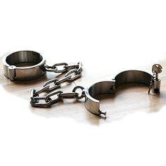 Handschellen - Handfessel Schwer mit Metallkette abschliessbar