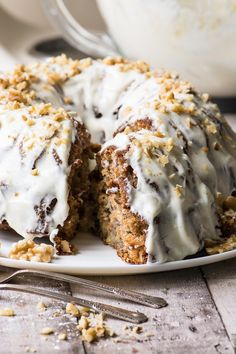 Hummingbird Bundt Cake with Cream Cheese Glaze ~ this one bowl recipe makes the Southern classic cake so much easier but every bit as delicious.