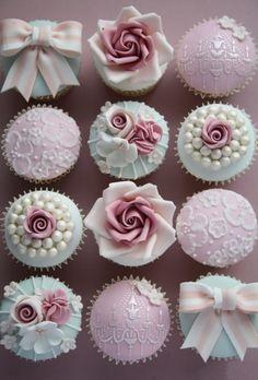 pastel coloured cupcakes