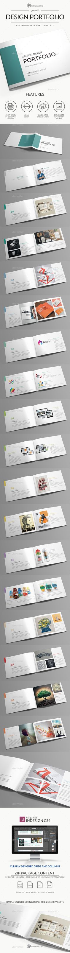 #Graphic Design Portfolio Brocure A4 - Portfolio #Brochures Download here:  https://graphicriver.net/item/graphic-design-portfolio-brocure-a4/20303211?ref=alena994