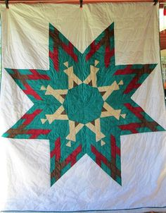 Native American LAKOTA Indian STAR Quilt  by AntiqueQuiltRevival, $225.00