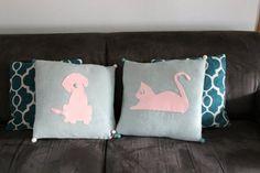 DIY silhouette cushions - OrganisingChaosBlog Bed Pillows, Cushions, Craft Organization, Pillow Cases, Silhouette, Organising, Crafts, Blog, Home Decor