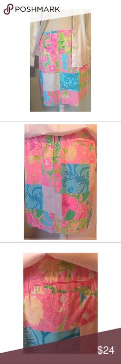 Lilly Pulitzer Skirt Cute & Comfy cotton Spring/summer skirt. In great condition. Lilly Pulitzer Skirts Midi