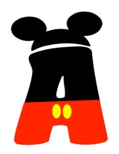 Mickey and Minnie Mouse Letters - lots of possibilities!