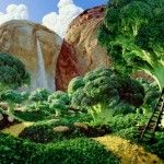 © Carl Warner - Foodscapes - Brocolli Forest - A landscape made of bread and broccoli cabbage Carl Warner, Broccoli Health Benefits, Garden Wallpaper, Amazing Food Art, Incredible Edibles, You're Awesome, Creative Food Art, Food Artists, Brocolli