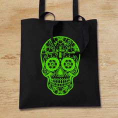 by WhiteoutFashion on Etsy #totebag #dayofthedead #dialosmuertos #bagforlife